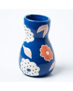 Saturday Vase Blue Floral