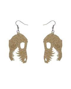 Fossil Glitter Resin Drop Earrings- Gold