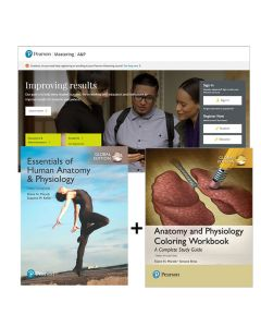 ESSENTIALS OF HUMAN ANATOMY & PHYSIOLOGY GLOBAL + ANATOMY AND PHYSIOLOGY COLOURING WORKBOOK + MASTERING + ETEXT
