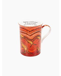 Aboriginal Kangaroo Sunset Mug