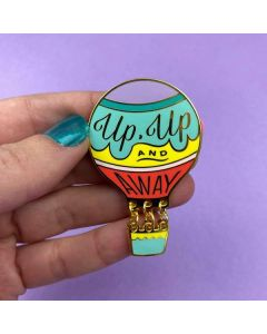 Up, Up and Away Enamel Pin