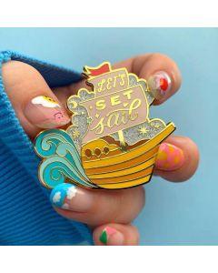 Let's Set Sail Enamel Pin