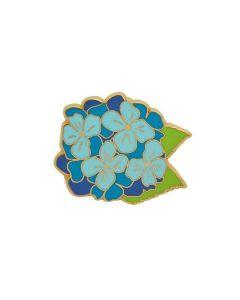 Heartfelt Hydrangea Blue Enamel Pin