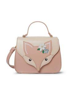 Flora Fox Face Top Handle Bag