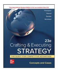 Crafting And Executing Strategy: Concept and Cases