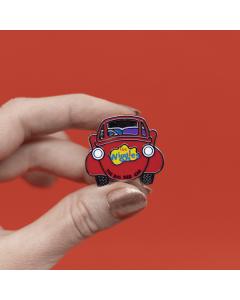 The Big Red Car Enamel Pin