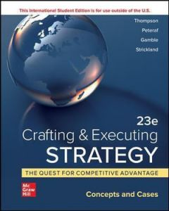 ISE Crafting & Executing Strategy 23rd Edition