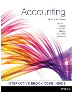 Accounting 10E (Full Colour Edition) with Vital Source Interactve etext codes 2019