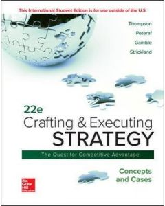 Crafting & Executing Strategy Quest for Competitive Advantage Concepts & Cases