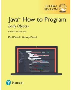 JAVA HOW TO PROGRAM EARLY OBJECTS GLOBAL ED