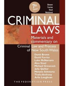 Criminal Laws Materials & Commentary on Criminal Law & Process in NSW