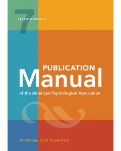 Publication Manual Of The Psyc
