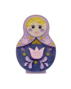 Matryoshka Memories Toy Brooch