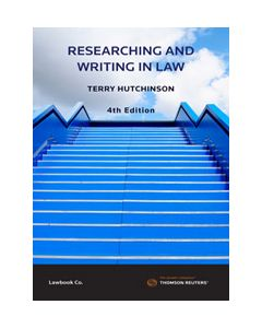 Research and Writing in Law