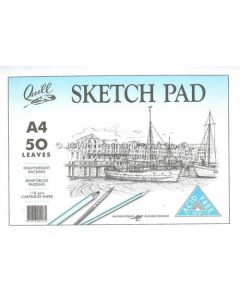 SKETCH PAD QUILL A4 ACID FREE 50LF 35053