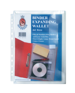 EXPANDING WALLET BINDER A4 SOVEREIGN CLEAR 03090