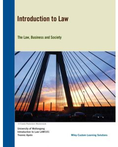 Introduction to Law Custom Publication LAW101 Black & White Edition